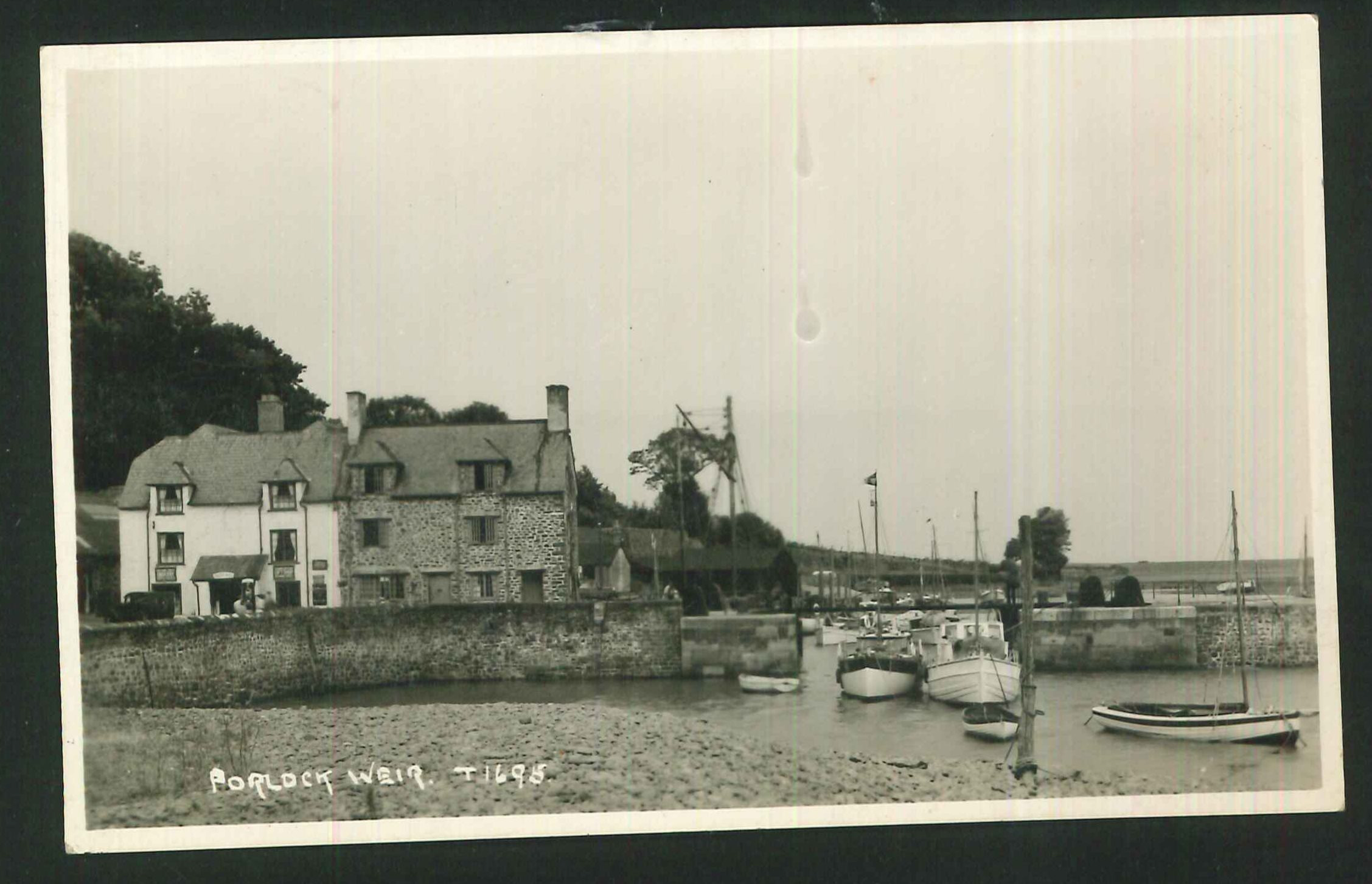 Postcard Real Photo Porlock Weir Somerset