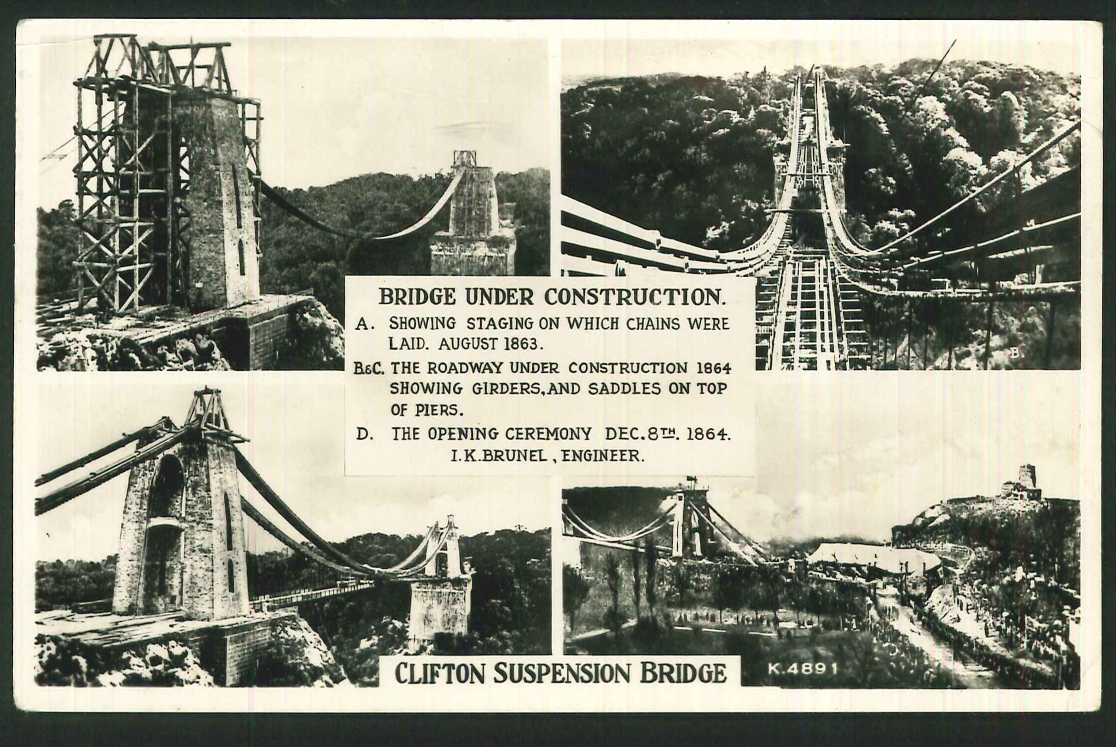 Postcard Clifton Suspension Bridge Bristol Somerset