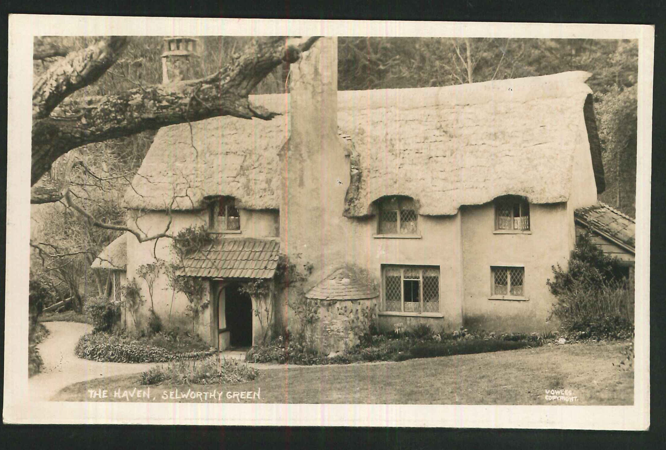 Postcard The Haven Selworthy Green Somerset 1936