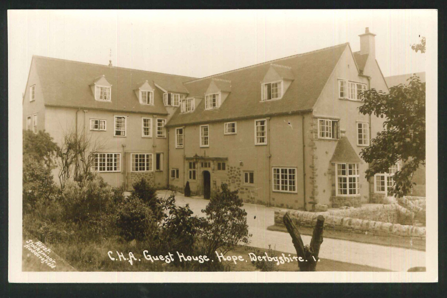 Postcard C.H.A Guest House Hope Derbyshire Real Photo