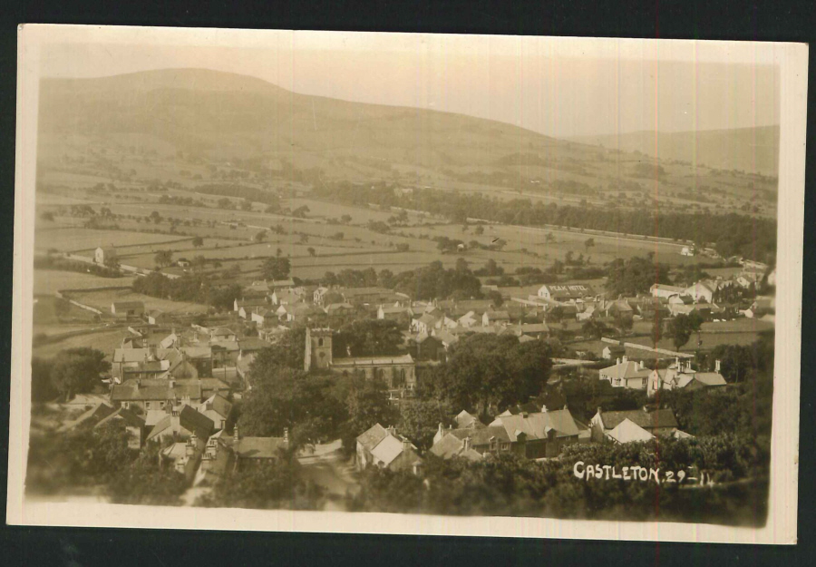 Postcard Plain Back Castleton Derbyshire