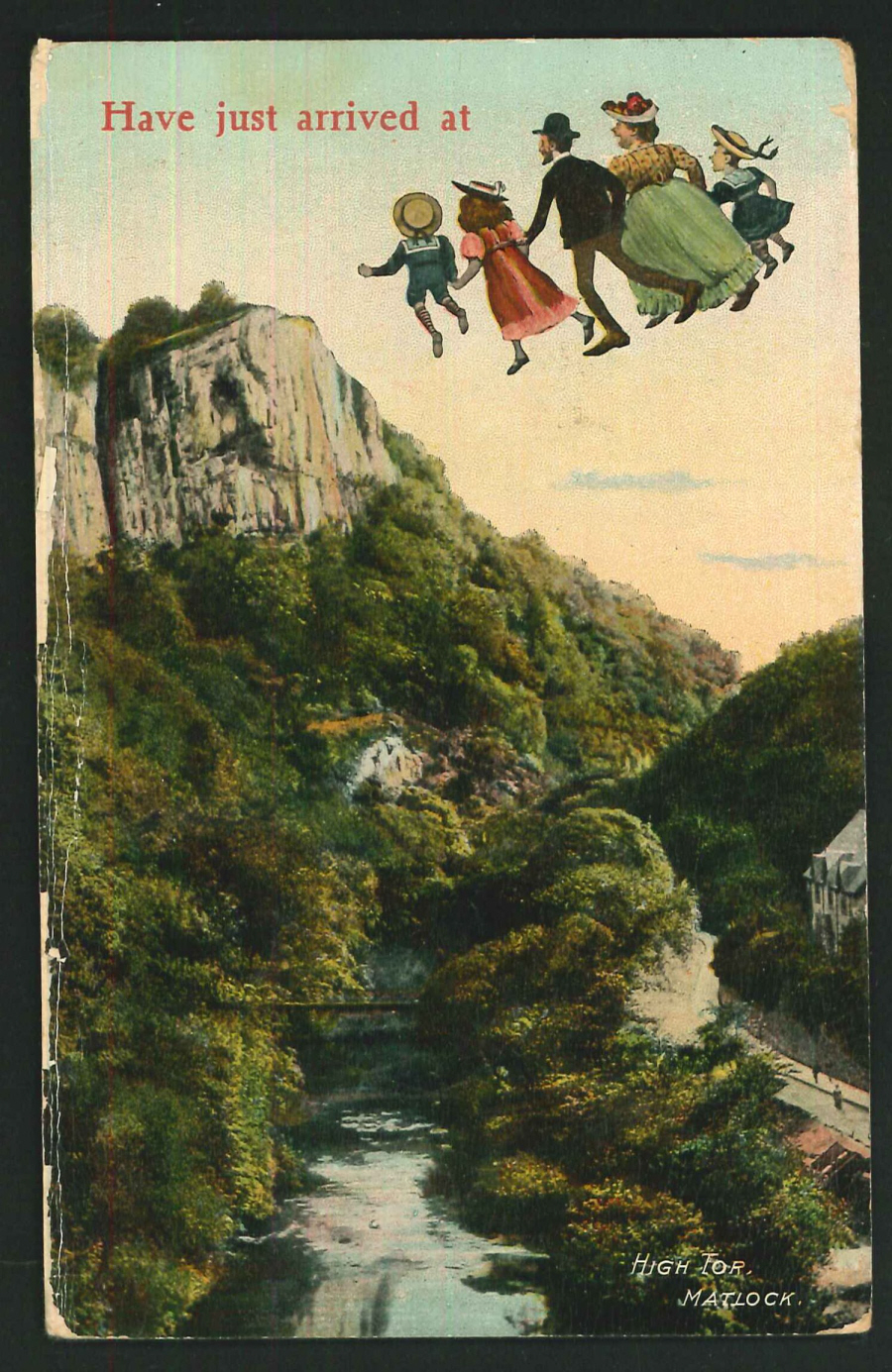 Postcard High Tor Matlock Derbyshire 1911