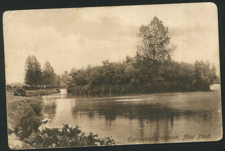 Postcard New Pond Earlswood Common Warks
