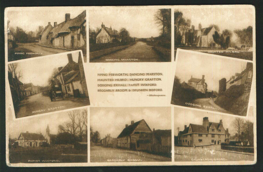 Postcard Multi View Villages of Warkwickshire