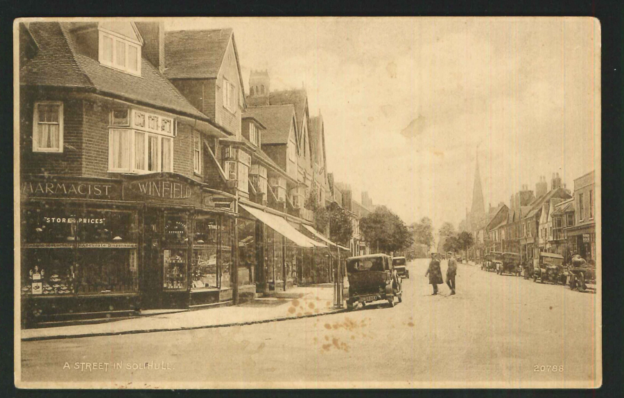 Postcard Winfield Pharmacist Solihull Warkwickshire