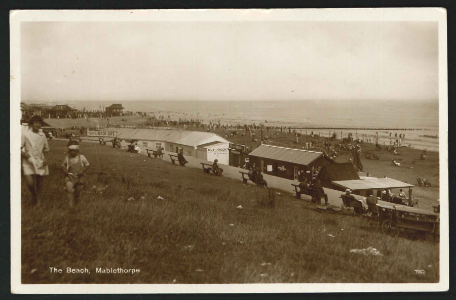Postcard Real Photo The Beach, Mablethorpe 1929