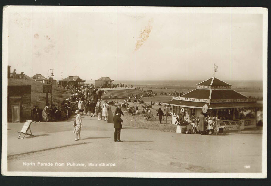 Postcard Real Photo North Parade Mablethorpe 1929