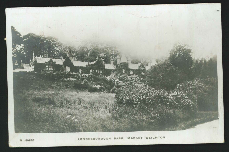 Postcard Londesborough Park, Market Weighton 1915