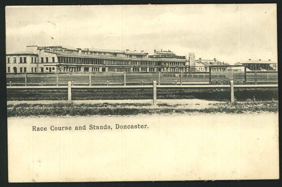Postcard Doncaster Racecourse and Stands 1907