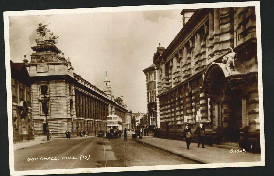 Postcard Real Photo Guildhall,Hull