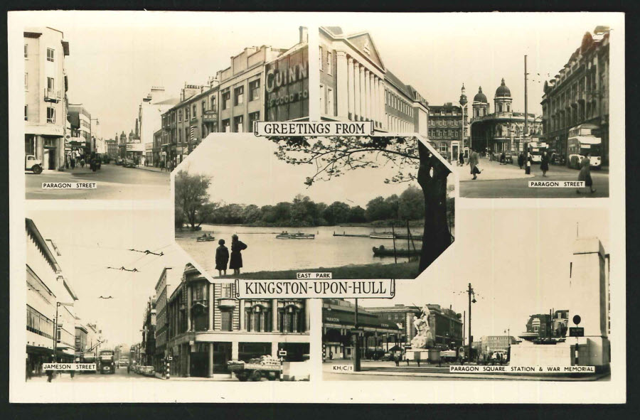 Postcard Multi View Kingston upon Hull