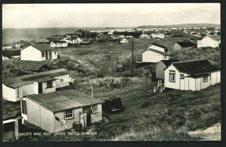 Postcard Chalets and Post Office, Hayle Towans