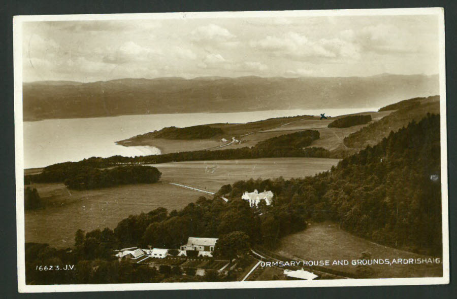 Postcard Scotland - Ormsary House & Grounds, Ardrishaig 1933