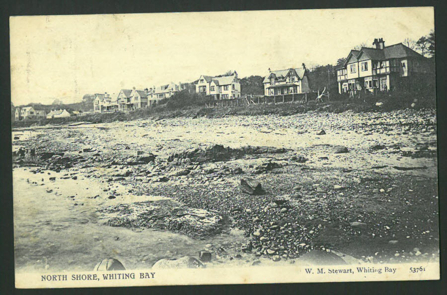 Postcard Scotland - North Shore,Whiting Bay Arran 1909
