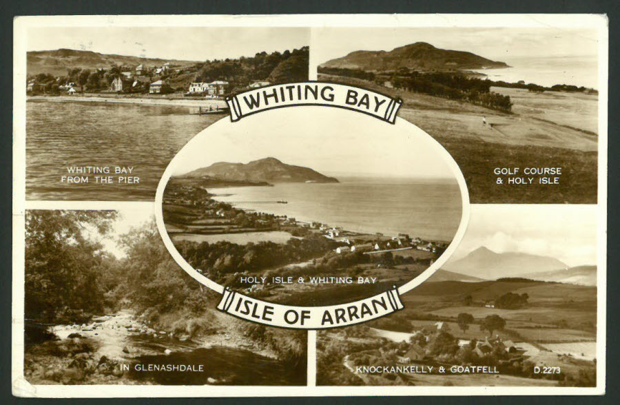 Postcard Scotland - Multi Views Whiting Bay, Isle of Arran
