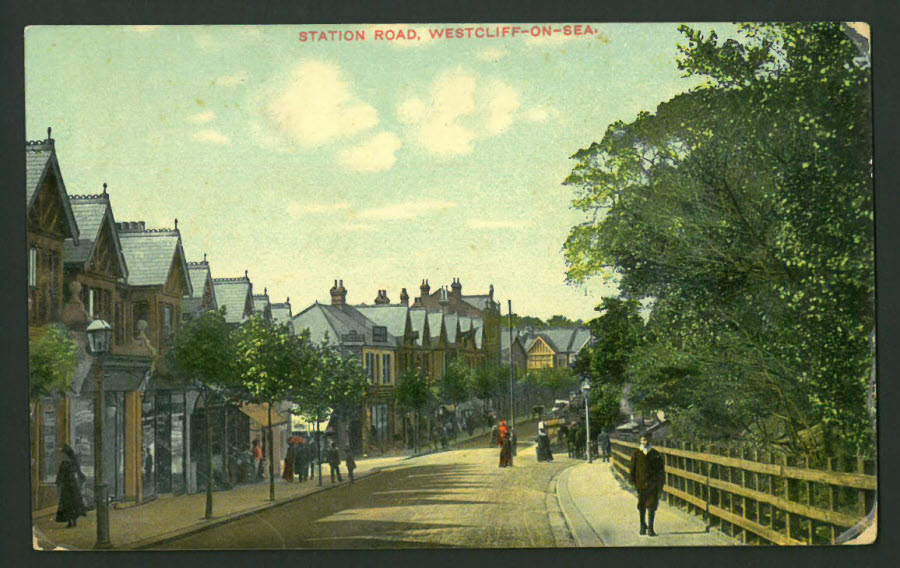 Postcard Essex - Station Road, Westcliff on Sea,1907