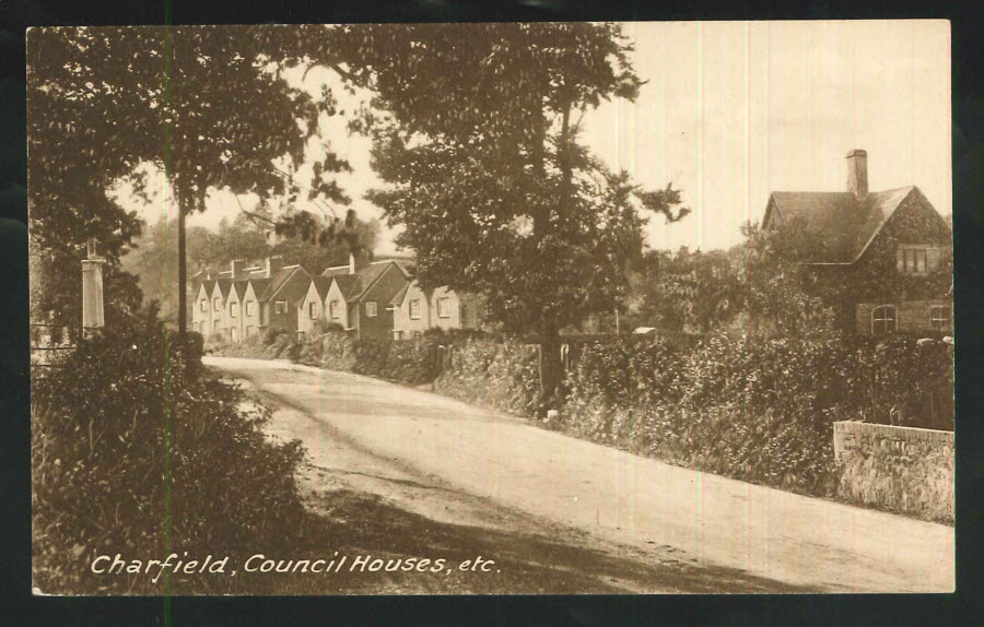 Postcard Gloucestershire Charfield,Council Houses,etc