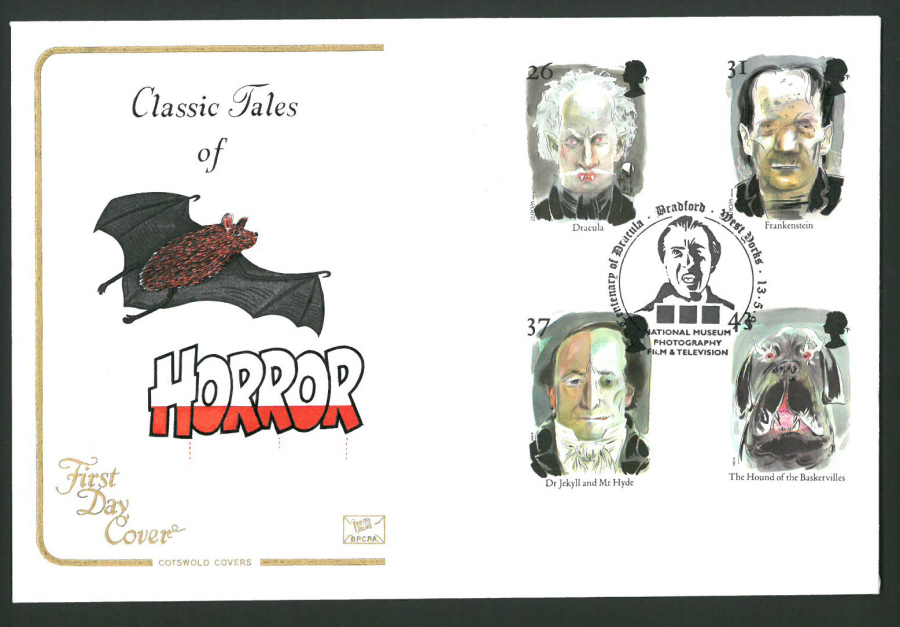 1997 Cotswold First Day Cover -Horror - Film Museum Bradford Postmark -