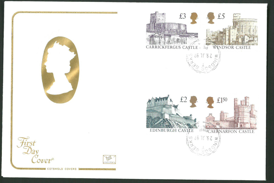 1997 Cotswold First Day Cover -High Value Defins - Windsor C D S Postmark -