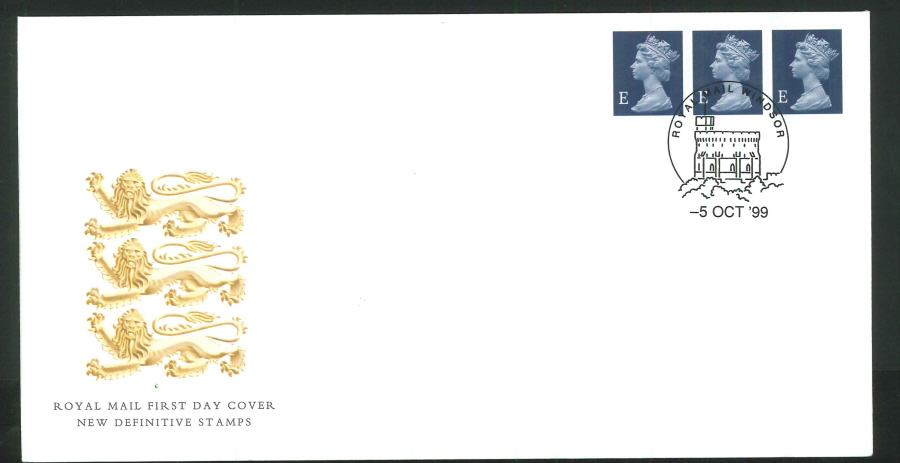 1999 New Definitives First Day Covers - Windsor Postmark - De La Rue Printer