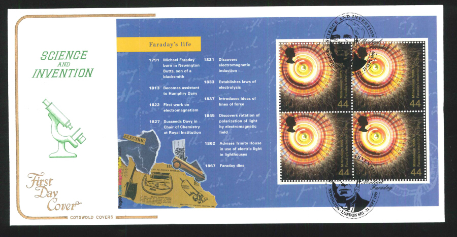 1999 Science & Invention First Day Covers- Set of 5, various postmarks - Click Image to Close