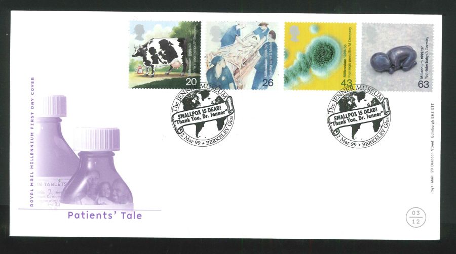 1999 Patients' Tale First Day Cover - Jenner Museum, Berkeley Postmark