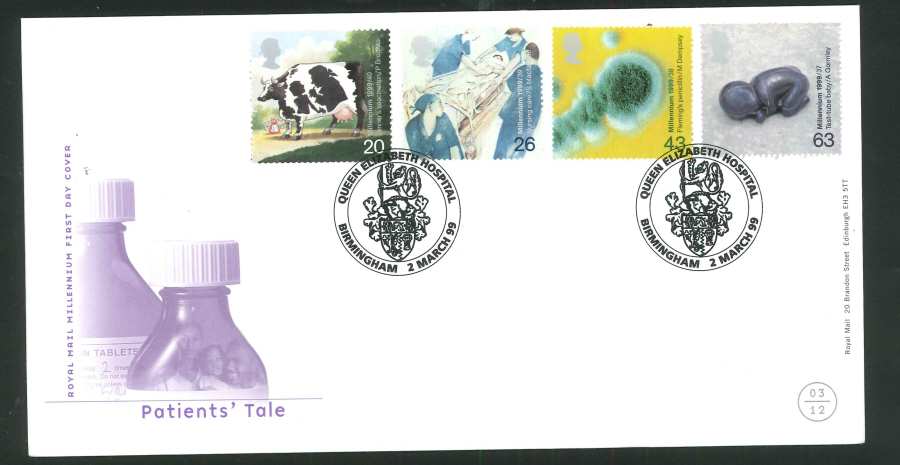 1999 Patients' Tale First Day Cover - Queen Elizabeth Hospital Postmark