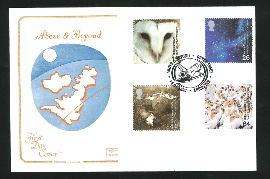 2000 Above & Beyond First Day Cover - Leicester Postmark