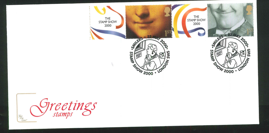 2000 'Smilers' Stamps, The Stamp Show, First Day Cover, Set of 5 - Stamp Show 2000 Postmark