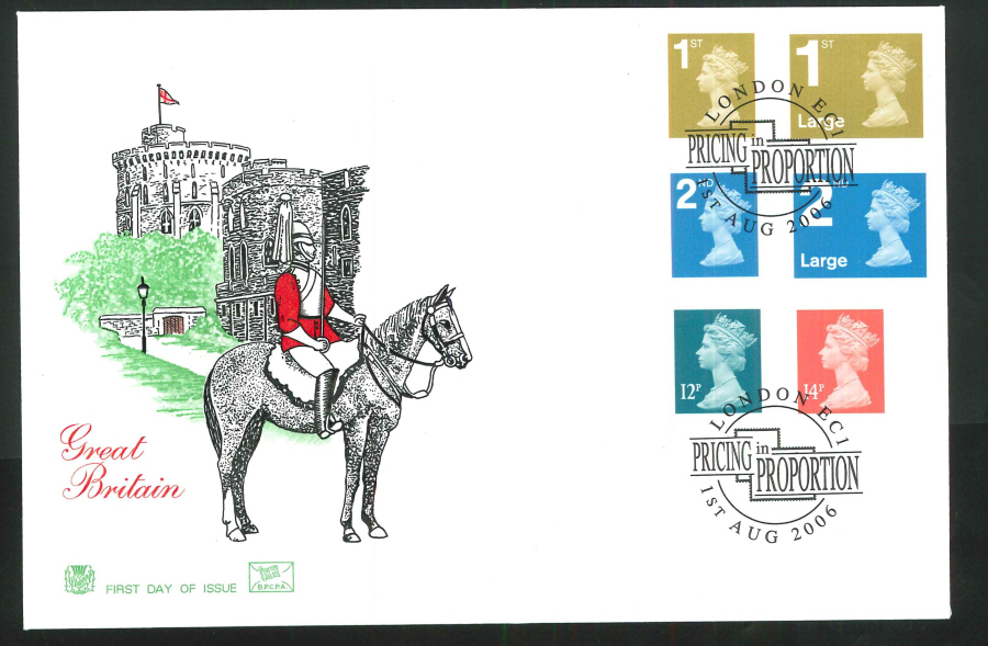 2006 Pricing in Proportion First Day Cover - London EC1 Postmark
