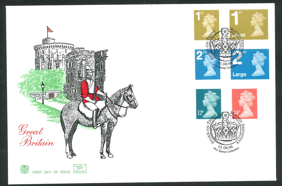 2006 Pricing in Proportion First Day Cover - Machin Definitive, Stoke on Trent Postmark