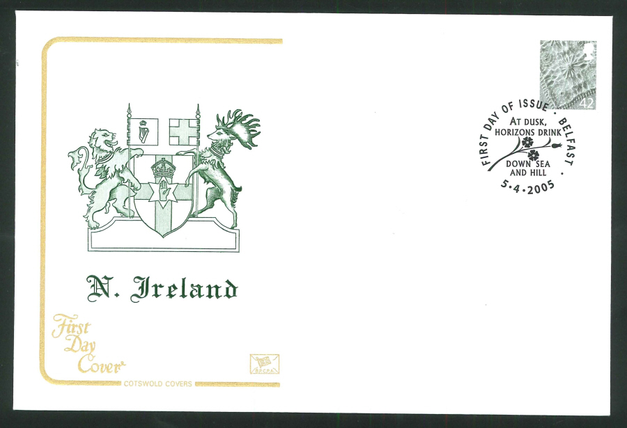 2005 Country Definitives Set of 4 First Day Covers - Belfast, Cardiff, Edinburgh & London Postmarks
