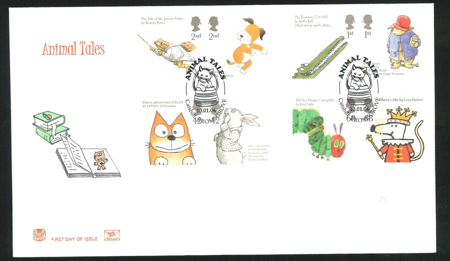 2006 Animal Tales First Day Cover - Catshill, Bromsgrove Postmark