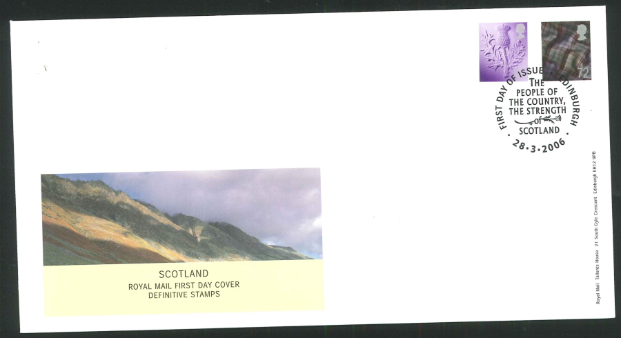 2006 Country Definitives Set of 4 First Day Covers - Belfast, Cardiff, Edinburgh & London Postmarks