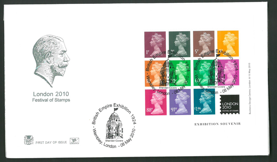2010 Stuart F D C London 2010 British Empire Exhibition Wembley London Postmark