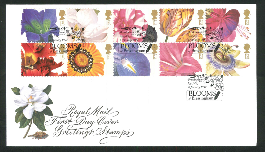 1997 greetings royal mail fdc blooms of bressingham bressingham 42 1997 greetings royal mail fdc blooms of bressingham bressingham m4hsunfo