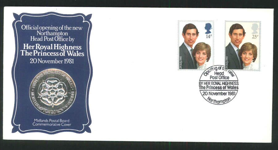 1981- Opening of Northampton Post Office Commemorative Cover- Northampton Postmark