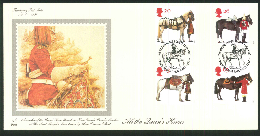 1997 - All the Queen's Horses First Day Cover - Windsor Great Park Postmark