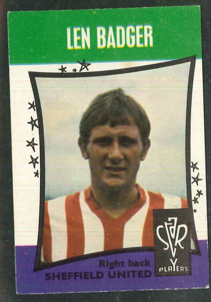 A & B C Football Star Players No 15 Len Badger Sheffield United - Click Image to Close