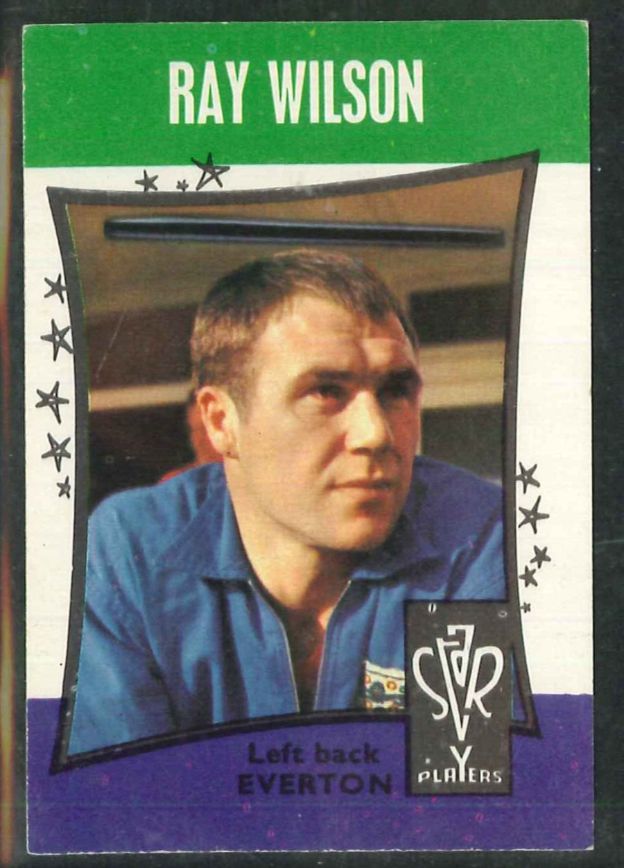 A & B C Football Star Players No 17 Ray Wilson Everton