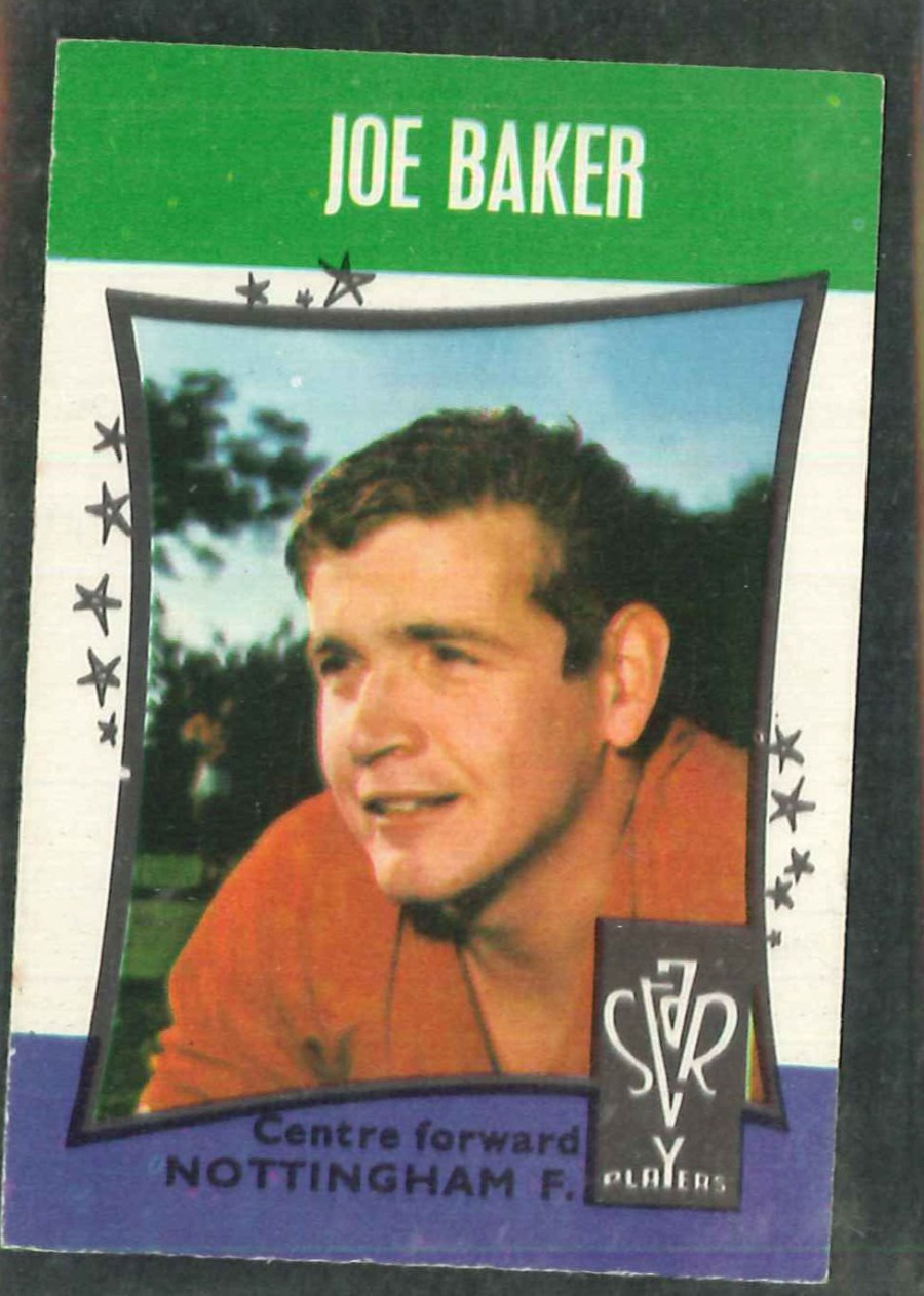 A & B C Football Star Players No 18 Joe Baker Nottingham Forest - Click Image to Close