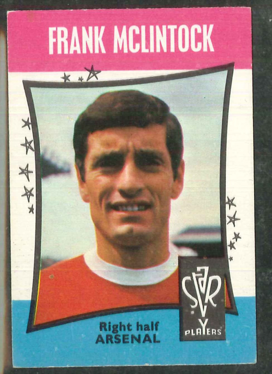A & B C Football Star Players No 48 Frank McLintock Arsenal