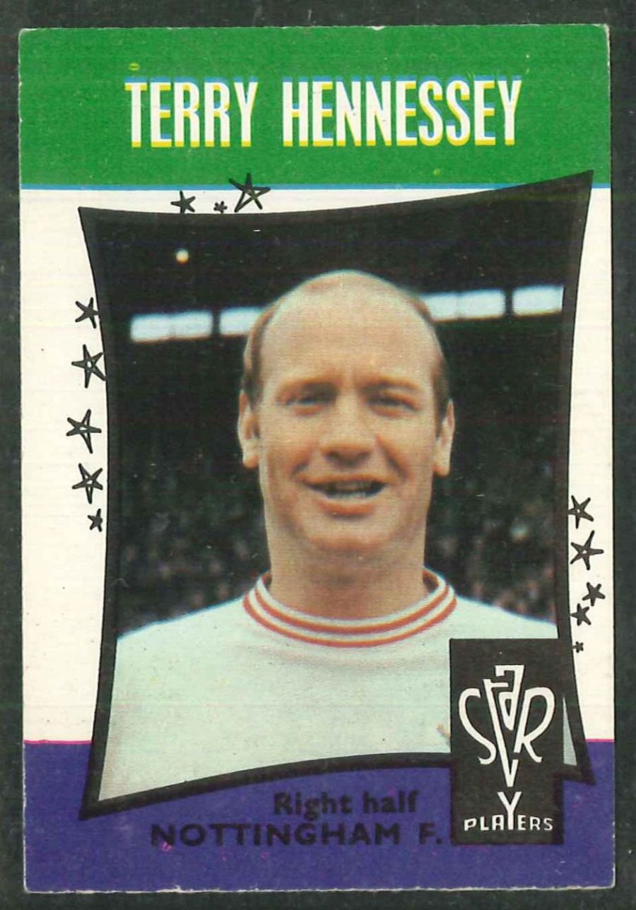 A & B C Football Star Players No 20 Terry Hennessey Nottingham Forest