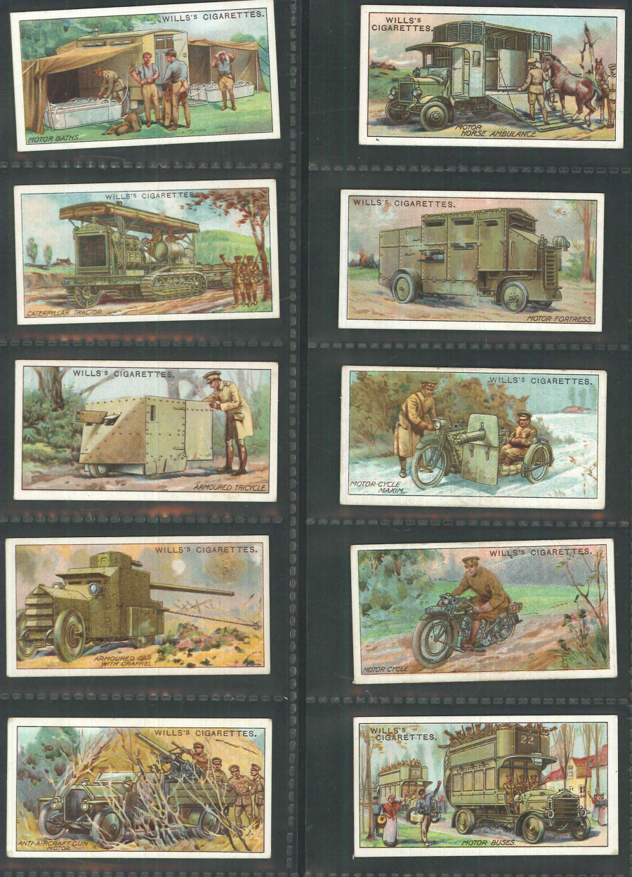 Wills Set of 50 Military Motors ( not passed by censor )