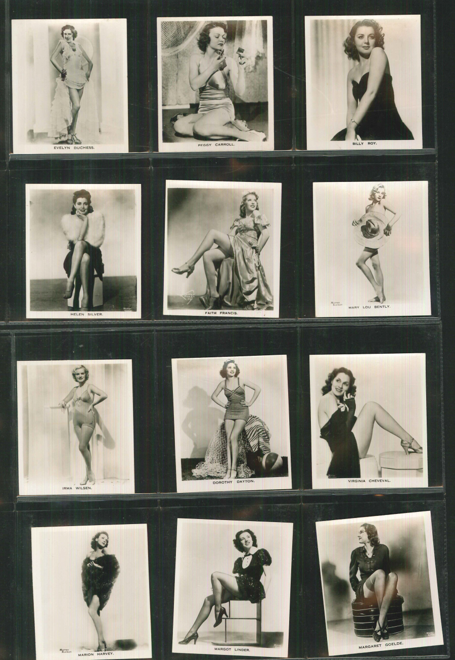 Carreras Set of 54 Glamour Girls of Stage & Films Large