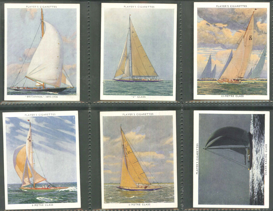 Players Set of 25 Racing Yachts