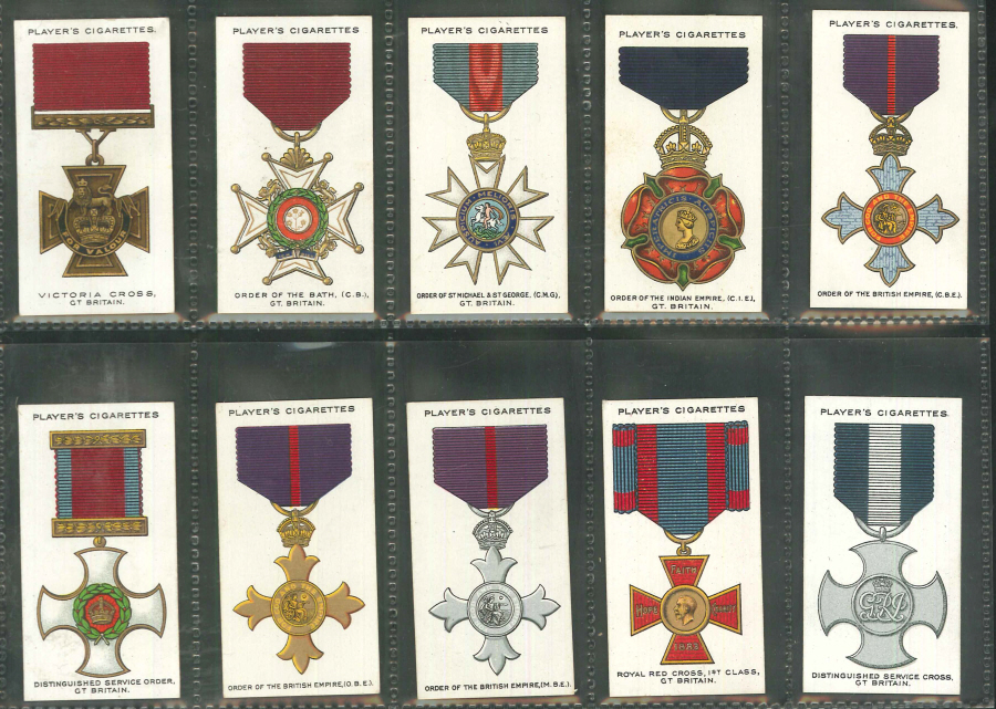 Players Set of 90 War Decorations & Medals