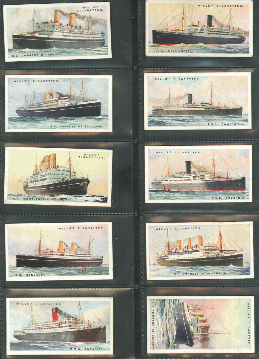 Wills Set of 50 Merchant Ships of the World