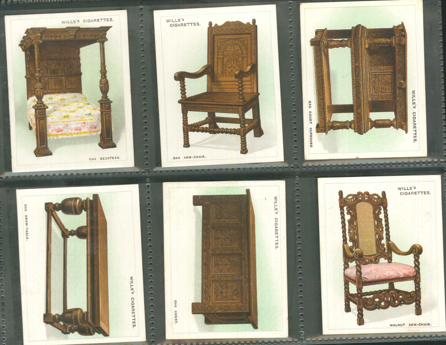 Wills Set of 25 Old Furniture 1st Series Large