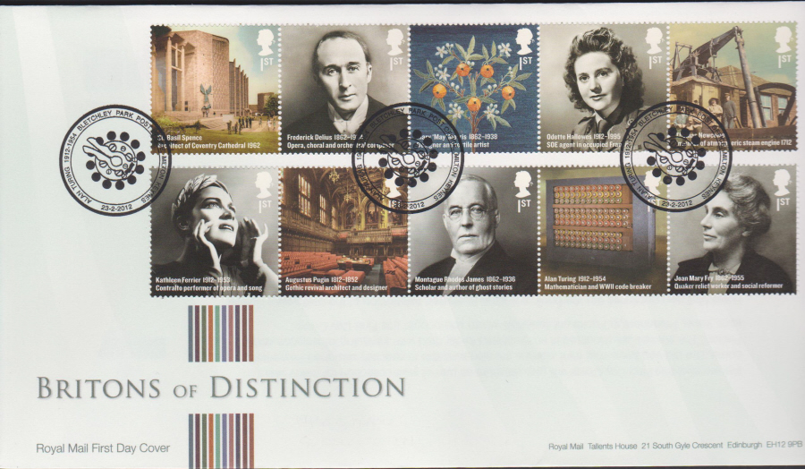 2012 - Britons of Distinction First Day Cover - Alan Turing Bletchley Park Postmark